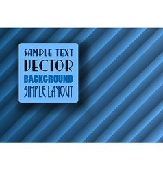 Background creased layout blue with text vector