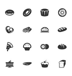 Bakery products icons set vector