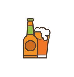 beer oktoberfest icon line filled vector image