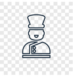 bellboy concept linear icon isolated on vector image