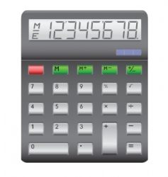black calculator vector image