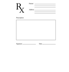 Blank rx prescription form medical concept vector