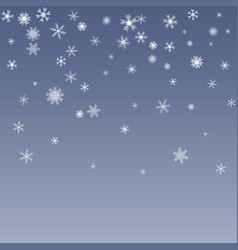 blue background with xmas snowflakes modern vector image