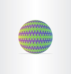 blue green globe ball icon vector image