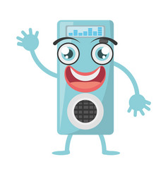 cartoon music mp3 icon vector image
