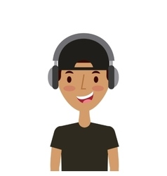 cartoon young man icon vector image