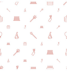 Celebrate icons pattern seamless white background vector