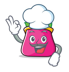 Chef purse character cartoon style vector