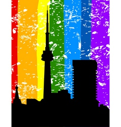 city a rainbow vector image