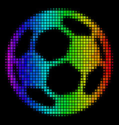 Colored pixel football ball icon vector
