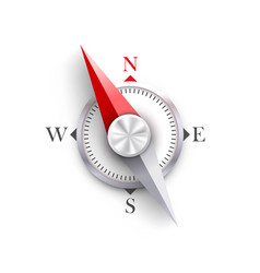 compass on a white background vector image