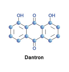 Dantron chrysazin or dihydroxyanthraquinone vector