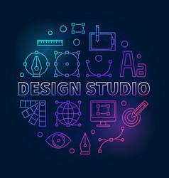 design studio colorful round vector image
