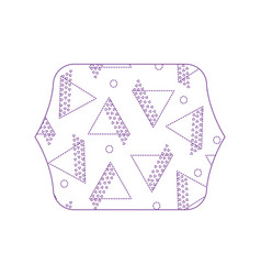 Dotty shape quadrate with geometric style figures vector