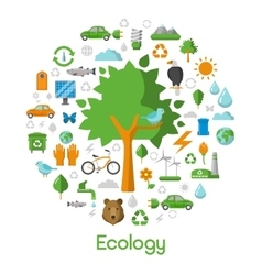Ecology Environment Green City Concept Icons vector