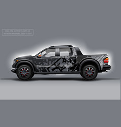 Editable template for wrap suv with skull abstract vector
