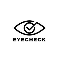 eye care logo vector image