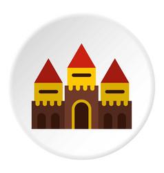 Fairy tale castle icon circle vector