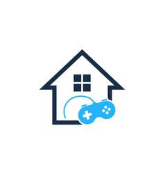 game house logo icon design vector image