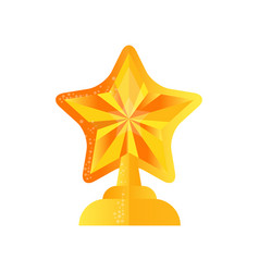 golden star trophy award on a vector image