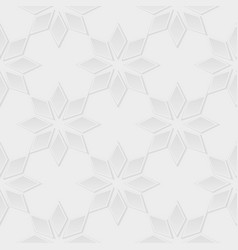 gray flowers 3d seamless pattern vector image
