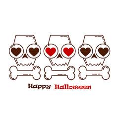 halloween skullloving skulls autumn holidays vector image