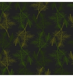 Hand drawn pine branch seamless pattern vector image vector image