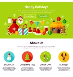 Happy Holidays Web Design vector