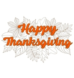 happy thanksgiving day 3 vector image