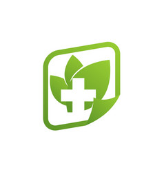 healthy resource logo design template vector image