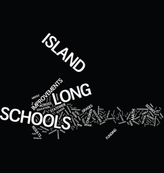 Long island schools rate well on math test text vector