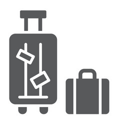luggage glyph icon suitcase and bag baggage sign vector image