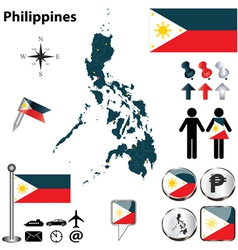 map philippines vector image