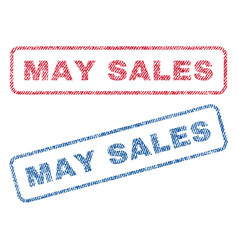 may sales textile stamps vector image