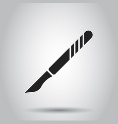 Medical scalpel icon hospital surgery knife sign vector