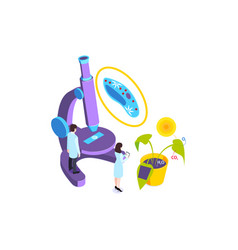 Microscope biology school composition vector