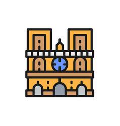 notre dame cathedral landmark paris france vector image