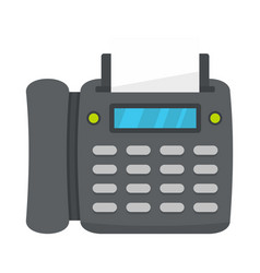 Office fax icon flat style vector
