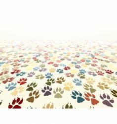 paw floor vector image