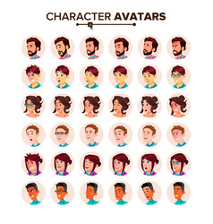 people avatar set man woman user person vector image