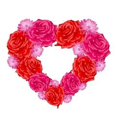 Rose heart over white vector