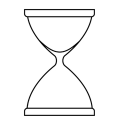 Sandglass icon outline style vector image