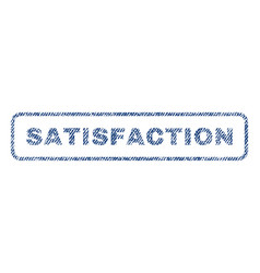 satisfaction textile stamp vector image