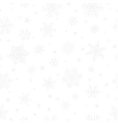 Seamless pattern of snowflakes gray on white vector