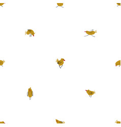 seamless pattern with funny chickens vector image