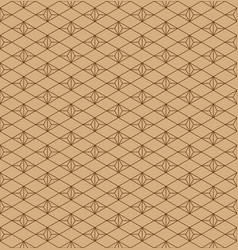 seamless traditional japanese ornamentbrown vector image