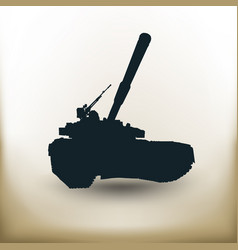 simple battle tank vector image