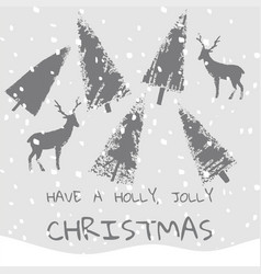 slogan have a holly jolly christmas xmas vector image