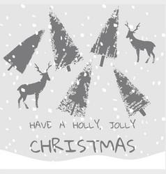 slogan have a holly jolly christmas xmas vector image