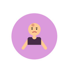 Stylish icon in color circle man headache vector